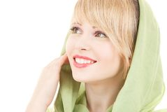 Green kerchief Royalty Free Stock Images
