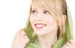Green kerchief Stock Images