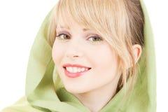 Green kerchief Stock Image
