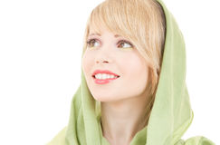 Green kerchief Stock Photo