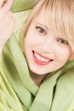 Green kerchief Stock Photos