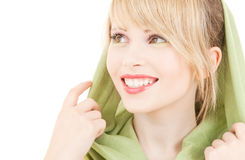 Green kerchief Stock Photos