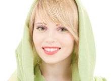 Green kerchief Stock Images