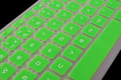 A green keyboard. Keys from a green keyboard Royalty Free Stock Photography