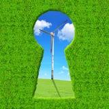 Green keyhole Stock Photography