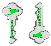 Green keys to successs. Sign of today Royalty Free Stock Image