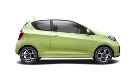Green Kia Picanto isolated Royalty Free Stock Photos