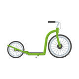 Green Kick Scooter Royalty Free Stock Photography