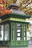 Green kiosk, raw Royalty Free Stock Images