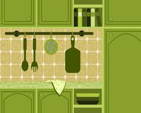 Green kitchen Royalty Free Stock Image