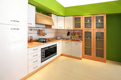 Green kitchen 3 Royalty Free Stock Photography