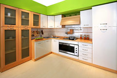Green kitchen Royalty Free Stock Images