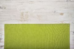 Green kitchen cloth Royalty Free Stock Images