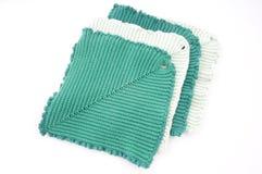 Green Kitchen gloves Stock Photos