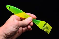 Green Kitchen Silicone Brush Stock Photography