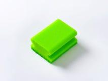 Green kitchen sponge Stock Images