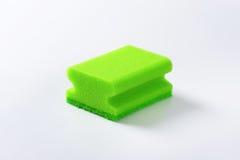 Green kitchen sponge Royalty Free Stock Images