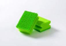 Green kitchen sponges Royalty Free Stock Photo