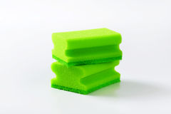 Green kitchen sponges Royalty Free Stock Photography