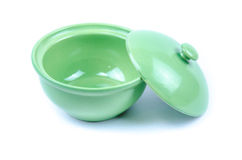 Green kitchen ware Royalty Free Stock Image