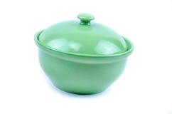 Green kitchen ware Stock Photo