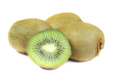 Green kiwi. Kgreen kiwi on white background Stock Photos