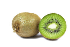 Green kiwi. Isolated on white background Royalty Free Stock Image