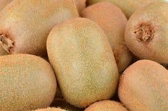 Green kiwi fruit Actinidia deliciosa. Close up shot Royalty Free Stock Image