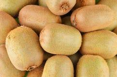 Green kiwi fruit Actinidia deliciosa. Close up shot Royalty Free Stock Images