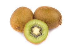 Green Kiwi fruit and slice Royalty Free Stock Photography
