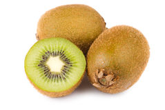 Green Kiwi fruit and slice Stock Photo