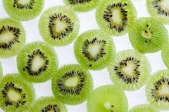 Green kiwi fruit slice. Juicy freshness food background Royalty Free Stock Images