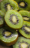 Green kiwi fruit Stock Photos