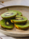green kiwi fruit Royalty Free Stock Photo