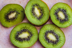 Green kiwi fruit Royalty Free Stock Images