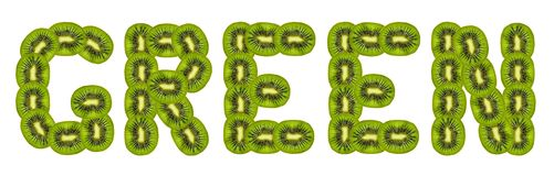 Green kiwi fruit Stock Photography