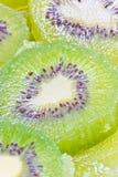 Green kiwi. Full frame of green kiwi fruit sliced Stock Image