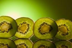 Green Kiwi In Row