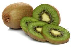 Green kiwi isolated on white Royalty Free Stock Photos