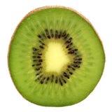 Green kiwi isolated on white Stock Photos