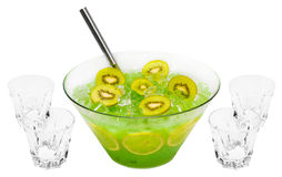 Green Kiwi Punch Royalty Free Stock Images