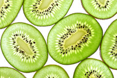 Green Kiwi Sliced Stock Photo