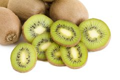 Green kiwi slices Royalty Free Stock Photography