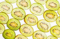 Green kiwi slices wallpaper Stock Photo