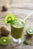 Green kiwi smoothie with mint Royalty Free Stock Images