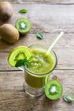 Green kiwi smoothie with mint Stock Photo