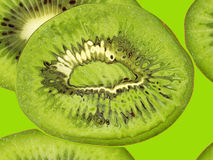 Green kiwi taken closeup suitable as food backround. Royalty Free Stock Images
