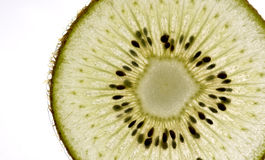 Green kiwifruit slice Stock Photo