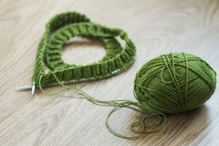 Green knit Royalty Free Stock Images