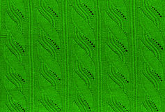 Green knitted background Royalty Free Stock Images